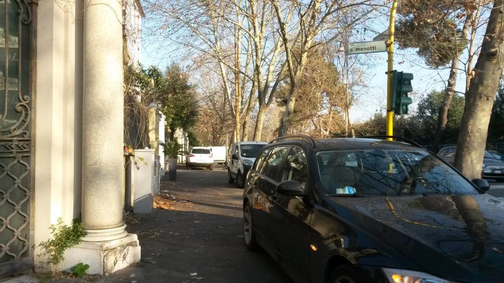 Marciapiede parking